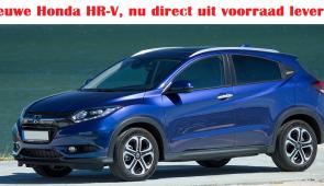 Nieuwe Honda HR-V en Jazz nu uit voorraad leverbaar!