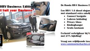 Exclusief bij Van Nieuwkerk: De Honda HR-V Business Edition! (21% bijtelling)