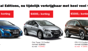 Honda Special EDITIONS, €4000 tot €5000 korting!