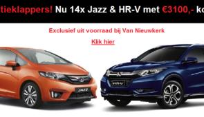 14x €3100 (of meer) Jazz & HR-V vakantieklappers