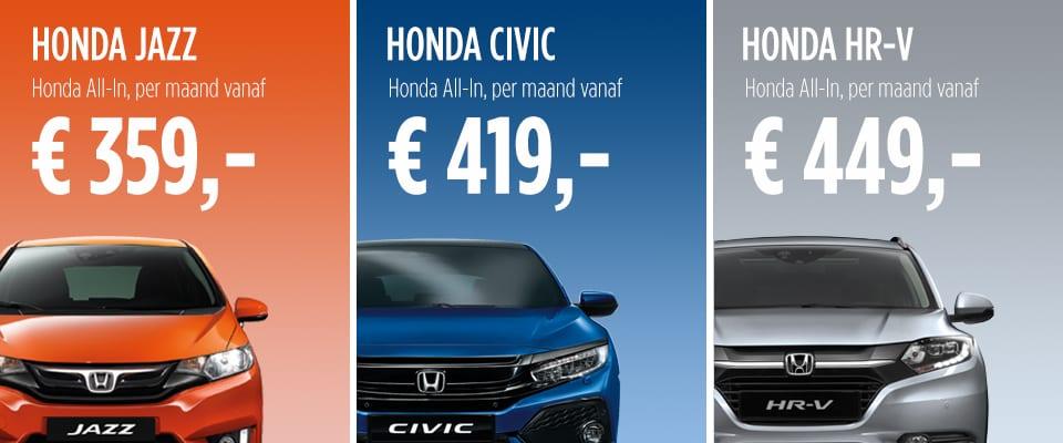 Honda Private Lease Honda Van Nieuwkerk