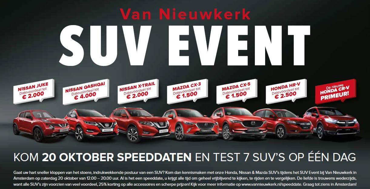Van Nieuwkerk SUV event