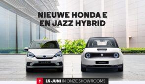 Vanaf nú in de showroom: de nieuwe Honda e & Jazz Hybrid!