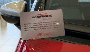 Van Nieuwkerk VIP pas.